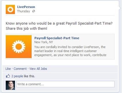 Examples of job postings on facebook, job search with salary filter